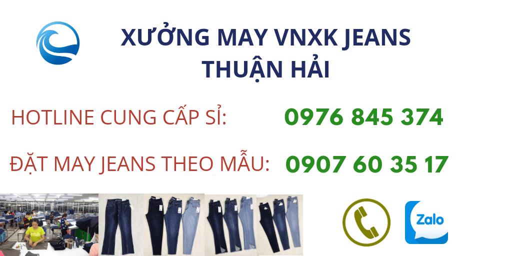 tìm xưởng chuyên may và cung cấp sỉ quần jeans nữ vnxk uy tín tại TP. HCM