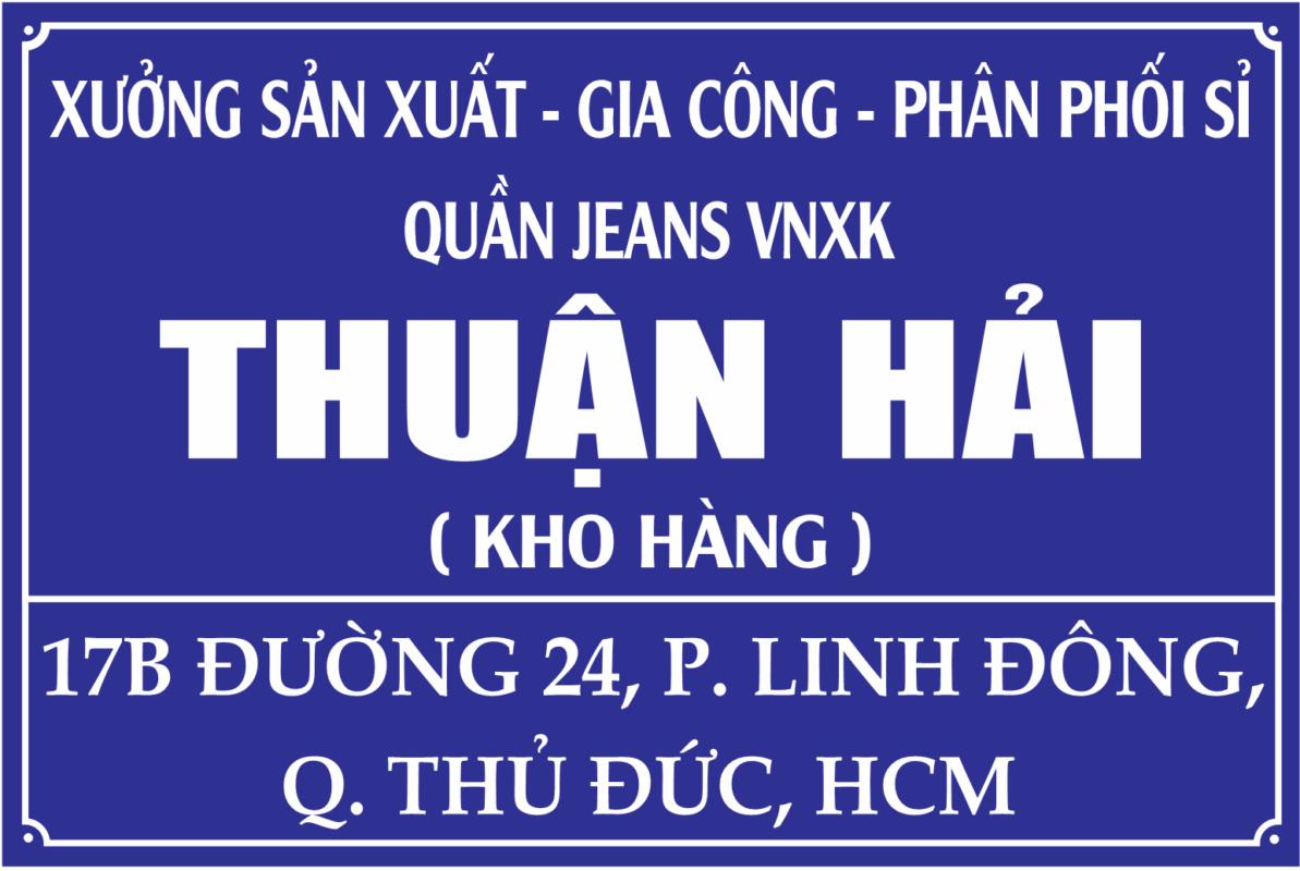 địa chỉ xưởng sản xuất - gia công quần jeans nữ VNXK Thuận Hải tại TP. HCM